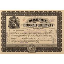 AZ - Jerome,Yavapai County - 1905 - Black Hills Copper Company Limited Stock Certificate - Fenske Co