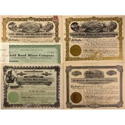 AZ - Oatman,Mohave County - Oatman Area Mining Stock Certificates