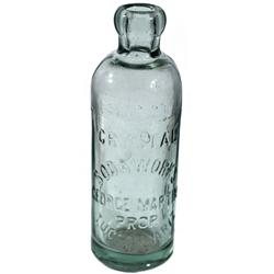 AZ - Tucson,c1907 - Crystal Soda Works Bottle