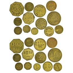 NV - Carson City,Douglas County - Nevada State Prison Tokens - Gil Schmidtmann Collection