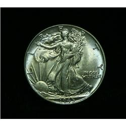 1943-p Walking Liberty Half Dollar Grades Select Uncirculated ms63