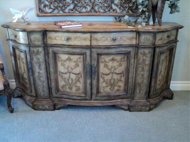 Merveilleux Image 1 : SIDEBOARD, DISTRESSED PAINT, HOOKER FURNITURE, SEVEN SEAS {print  Sequence