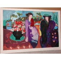 Bracha Guy, Meeting Katherine, Signed Serigraph