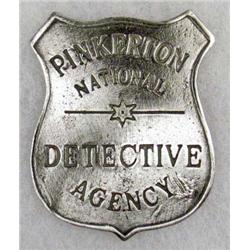 1129 - PINKERTON NATIONAL DETECTIVE AGENCY BADGE - REPRO