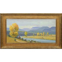 G. Russell Case, Oil on Canvas
