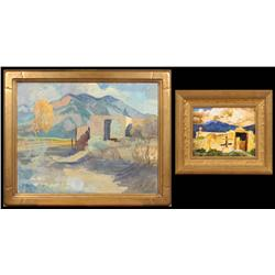 Walter A. Bailey, Two Oil Paintings