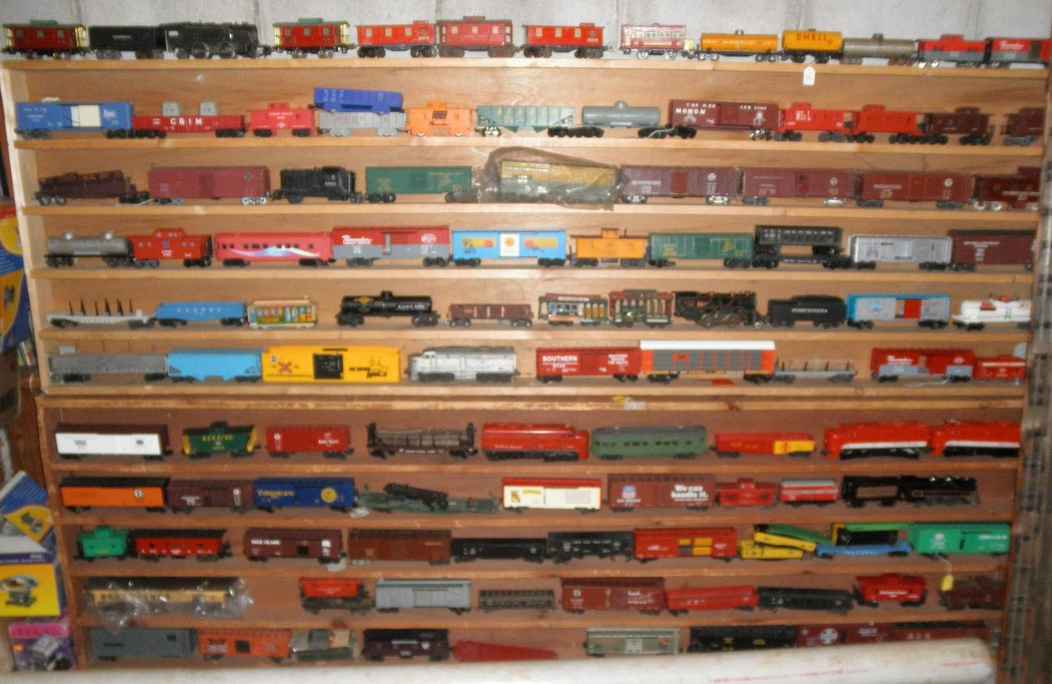 collection model train shelf org ilecip cypress on by rail luck shelves