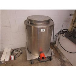 Stainless steel wax melt tank