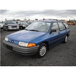 1991 Ford Escort LX 4 Door Station Wagon