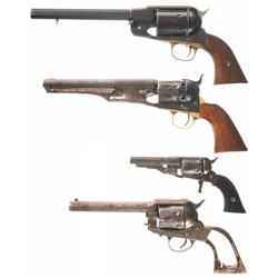 Four Antique American Revolvers
