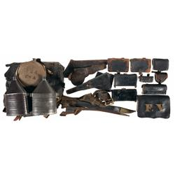 Collection of Civil War and Indian War Field Gear