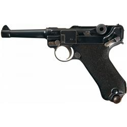 DWM 1920/1917 Double Dated Luger Semi Automatic Pistol with Holster