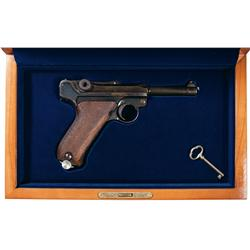 Navy Proofed DWM Luger Semi Automatic with Case