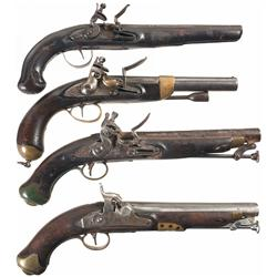 Four Antique Pistols