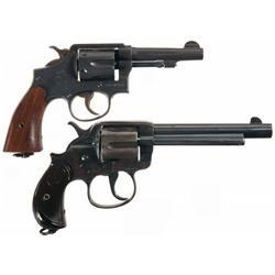 Two U.S. Double Action Revolvers
