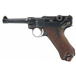 Reworked Erfurt Luger Semi-Automatic Pistol