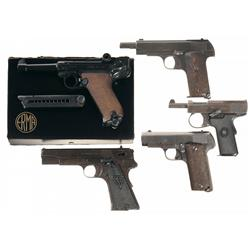 Five Semi-Automatic Pistols