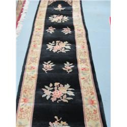 2 black Chinese handmade runners