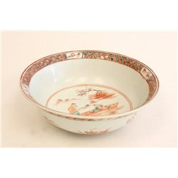 Chinese bowl with interior & exterior decoration