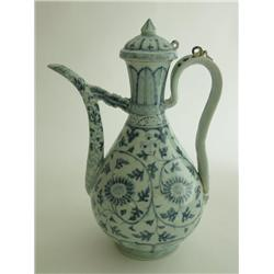 18th/19th c. covered ewer