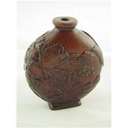 Bamboo carved snuff bottle