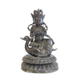 "Bronze ""Buddha Sitting on a Duck"""