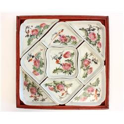 Famille Rose porcelain combination fruit tray