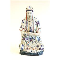 "Seated porcelain ""Guan Yin"""