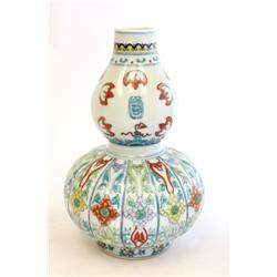 19th c. style Chinese floral vase
