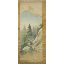 "Chinese scroll ""Mountain Scene with House"""
