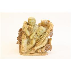 "Jade carving ""2 Men"""