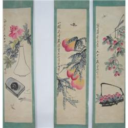 Lot of 3 Chinese scrolls