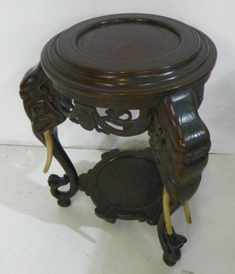 ... Image 2 : Chinese Carved Wood Elephant Table ...