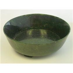 Green jade bowl