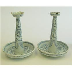 Pair Chinese porcelain sticks early
