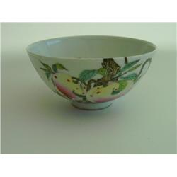 YongZheng Famille Rose peach bowl