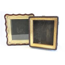 Two Chinese shadow box frames