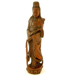 Wood carving of Guan Yin