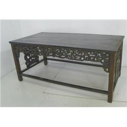 19th c. Chinese carved wood table