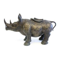 Bronze rhinoceros incense burner