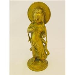 "Gilt bronze ""Sun God"""