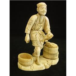 "Japanese ivory ""Fisherman"" signed"