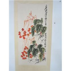"Chinese scroll ""Flower Painting"""