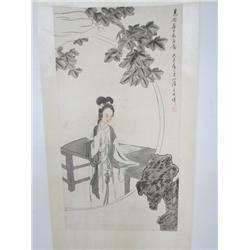 "Chinese scroll of ""Young Chinese Woman"""