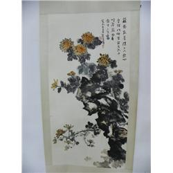"Chinese scroll of ""Orange Flowers"""