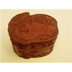 Red lacquer box