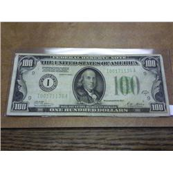 1928-A US $100 FEDERAL RESERVE NOTE