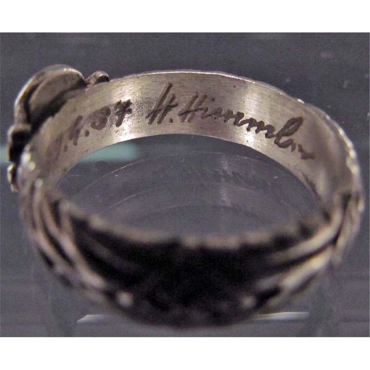 Image 7 German Ss Wedding Ring W Himmler Signature Inside Band Sterling