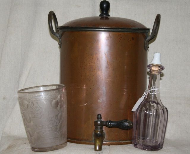 antique kitchen sink barber shop copper water boiler 1282