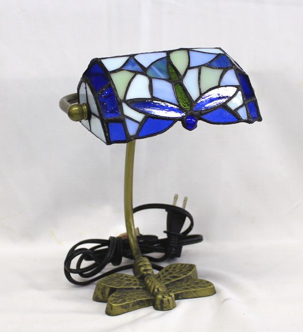 Elements Dragonfly Stained Gl Br Lamp Loading Zoom